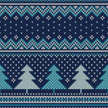 isles: Winter Holiday Seamless Knitted Pattern. Nordic Sweater Design