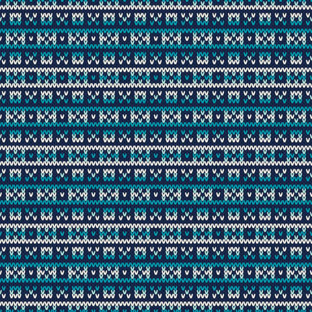 fair isle: Winter Holiday Seamless Knitted Pattern. Fair Isle Sweater Design