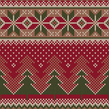 Christmas Sweater Design. Seamless Knitted Pattern Reklamní fotografie - 49242882