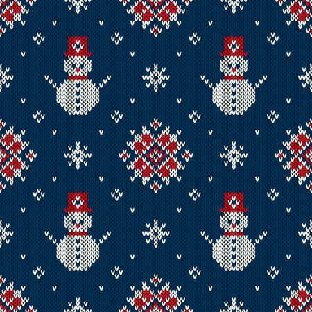 sueter: Navidad Diseño suéter. Tejidos patrón sin fisuras Vectores