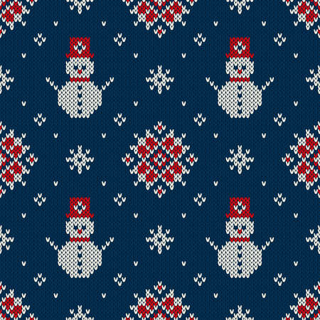 Christmas Sweater Design. Seamless Knitted Pattern