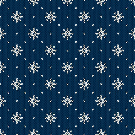 Winter Holiday Sweater Design. Seamless Knitted Pattern Ilustrace
