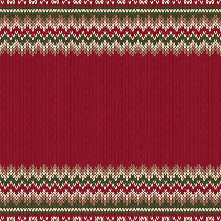 an island tradition: Seamless Pattern on the Wool Knitted Texture.