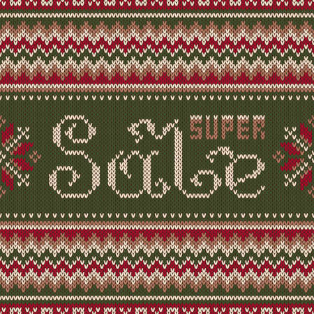 an island tradition: Seamless Pattern on the Wool Knitted Texture. EPS available