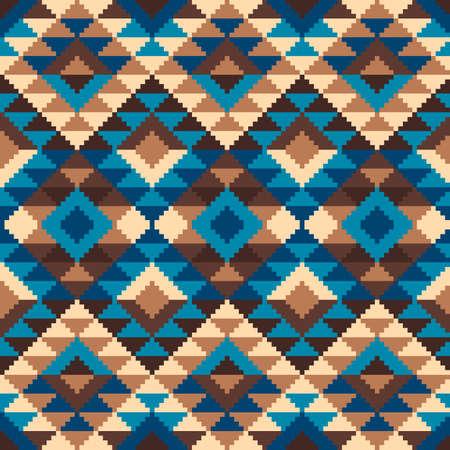 Aztec Tribal Style Bezproblemowa geometryczny wzór. Ilustracja wektorowa