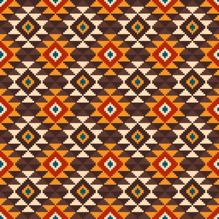 Tribal Aztec Style Seamless Geometric Pattern. Vector Illustration