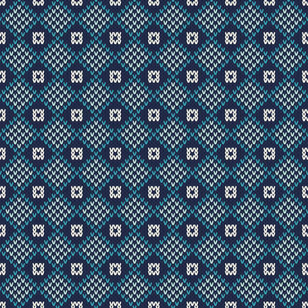 an island tradition: Seamless Pattern on the Wool Knitted Texture Illustration