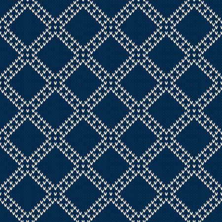 isles: Seamless Knitting Pattern. Fair Isle Style Sweater Design Illustration