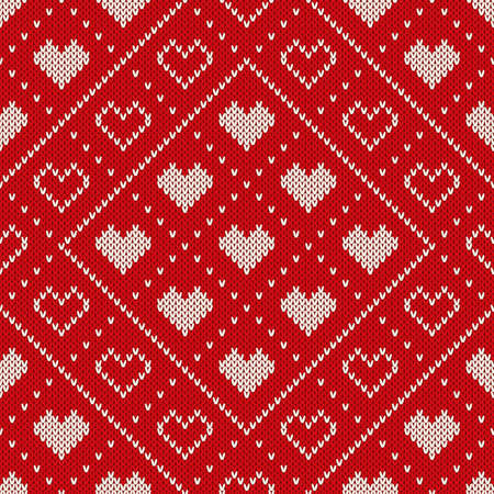 Seamless Knitting Pattern. Fair Isle Style Sweater Design Ilustrace