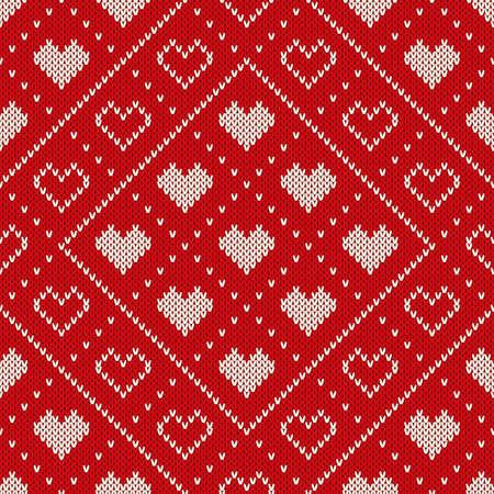 Seamless Knitting Pattern. Fair Isle Style Sweater Design Illustration