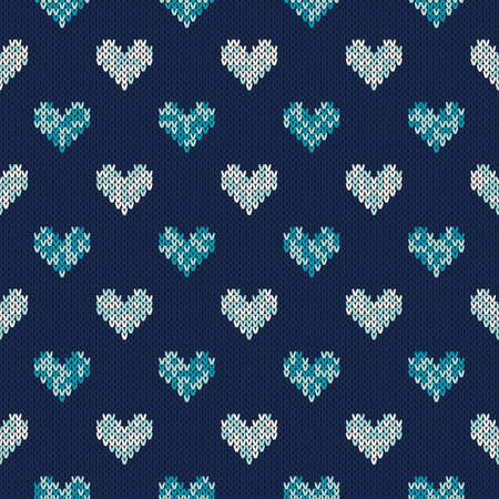 fair isle: Seamless Knitting Pattern with Hearts. Fair Isle Style Sweater Design