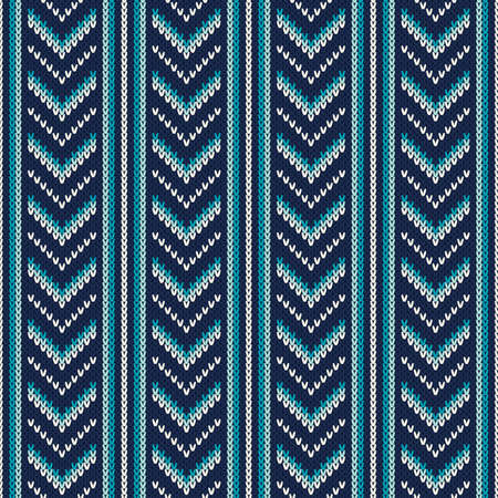 fair isle: Chevron Knitted Pattern. Fair Isle Style Knitting Sweater Design. Abstract Seamless Knitted Background