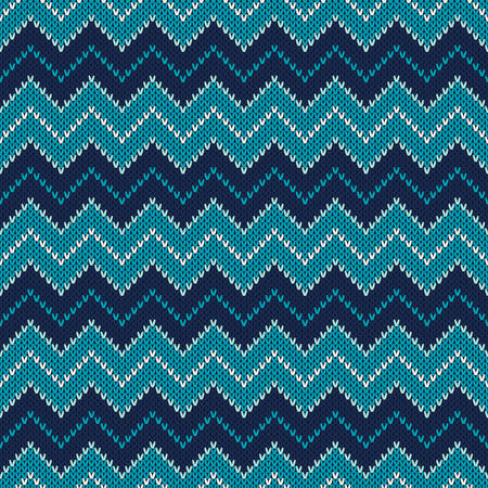 isle: Chevron Knitted Pattern. Fair Isle Style Knitting Sweater Design. Abstract Seamless Knitted Background