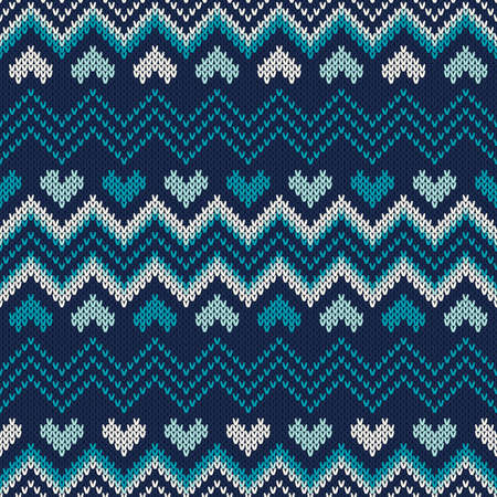 Fair Isle Style Knitted Sweater Design. Seamless Knitting Pattern.