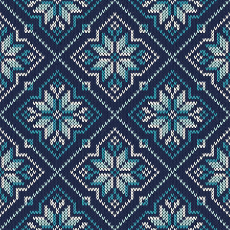 fair isle: Seamless Knitted Pattern. Fair Isle Style Knitting Sweater Design.