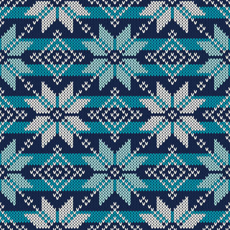fair isle: Seamless Knitted Pattern. Fair Isle Style Knitting Sweater Design