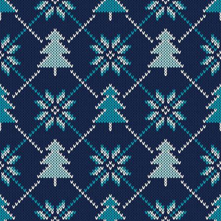 patter: Christmas Sweater Design. Seamless Knitting Patter