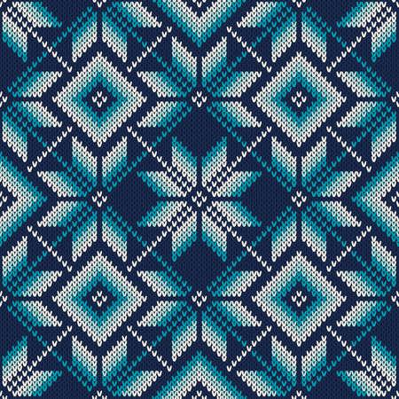 Winter Holiday Fair Isle Muster gestrickt. Nahtlose Strickwolle Textur. Strickpullover Entwurf