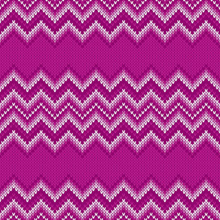 Traditional Fair Isle Abstract Chevron Knitted Pattern. Seamless Ornament for Knitting Sweater Design Illusztráció