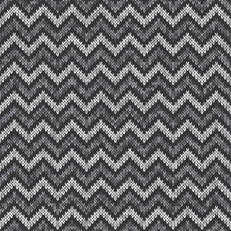 jersey: Chevron Abstract Knitted Pattern. Vector Seamless Knitting Wool Sweater Design