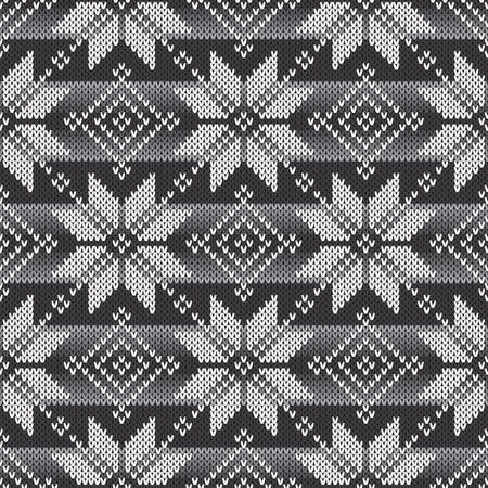 Abstract Knitted Pattern Vector Seamless Background Иллюстрация