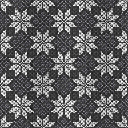 Abstract Knitted Pattern Vector Seamless Background Illustration