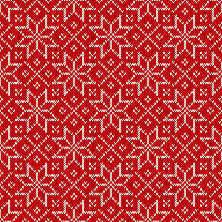 Christmas Seamless Knitted Pattern With Snowflakes Christmas