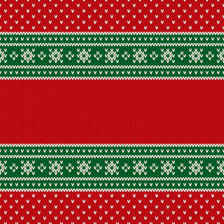 Christmas Design Knitted Background with a Place for Text. Wool Knit Sweater Texture Imitation