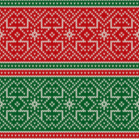 Traditional Fair Isle Style Seamless Knitting Pattern. Christmas Holiday Seamless Knitted Sweater Design.