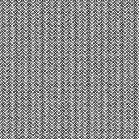 Knitted wool sweater pattern vector imitation. Seamless background with shades of gray colors, knitting wool sweater design.