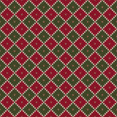 Modello tricottante senza cuciture tradizionale di vacanza invernale. Maglione lavorato a maglia di Natale. Imitazione di trama in maglia di lana. Archivio Fotografico - 97072446