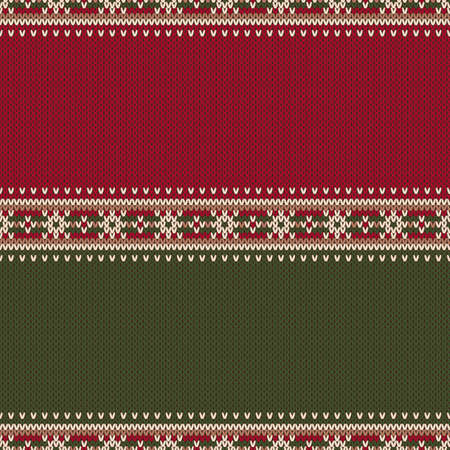 Christmas Design Knitted Background with a Place for Text. Wool Knit Sweater Texture Imitation.