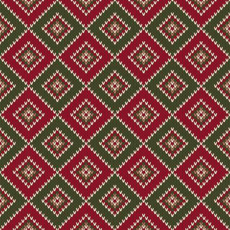 Abstract Seamless Knitting Pattern. Christmas Sweater Design. Wool Knit Texture Imitation.