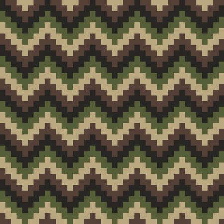 Chevron Camouflage Seamless Pattern. Pixelated vettore sfondo astratto.
