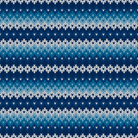 Winter Holiday Knitted Background. Wool Knit Sweater Texture Imitation with Shades of Blue Colors