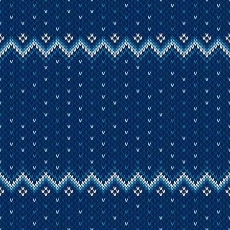 Winter Holiday Knitted Background with a Place for Text. Wool Knit Sweater Texture Imitation with Shades of Blue Colors. Reklamní fotografie - 115053965