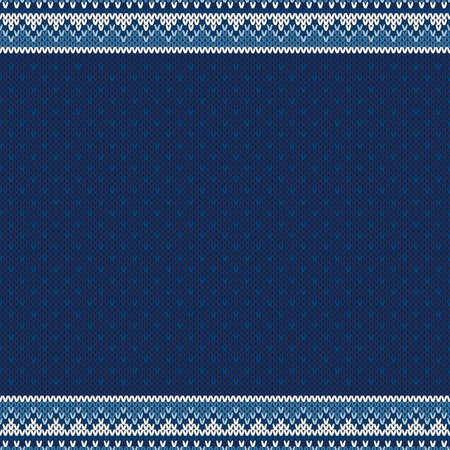 Winter Holiday Knitted Background with a Place for Text. Wool Knit Sweater Melange Texture Imitation with Shades of Blue Colors. Ilustrace