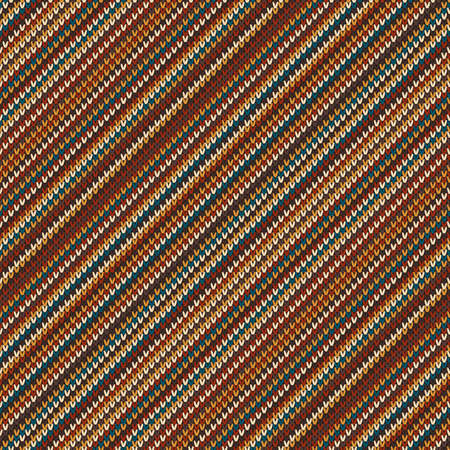 Striped Colorful Knitted Pattern. Abstract Vector Seamless Background. Knitting Wool Sweater Design. Ilustrace