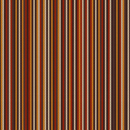 Abstract Striped Knitted Pattern. Vector Seamless Knit Texture. Ilustrace