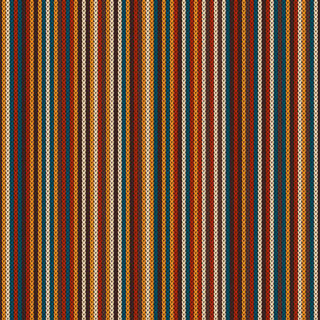 Abstract Striped Knitted Pattern. Vector Seamless Knit Texture Imitation.