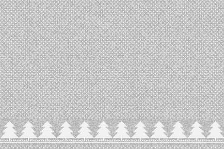 Winter Holiday Pixel Pattern with Christmas Trees Ornament and Place for Text. Vector Seamless Wool Knit Melange Texture Imitation.