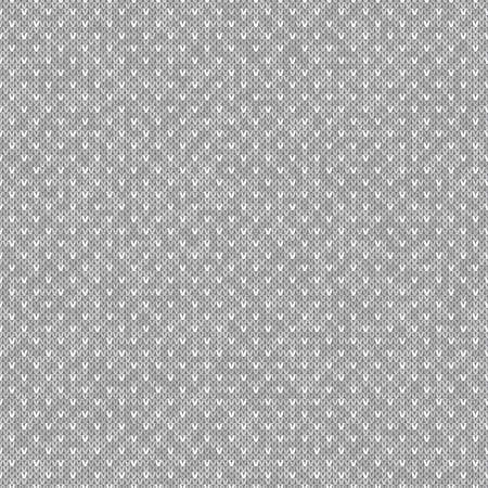 Abstract Knitted Pattern. Vector Seamless Knit Melange Wool Texture Imitation with Shades of Grey Colors.