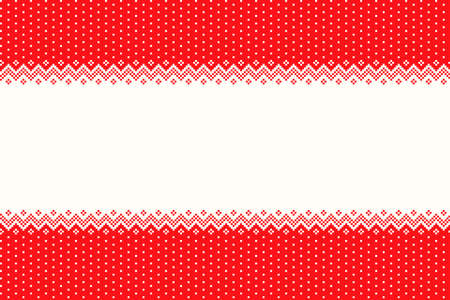 Christmas Holiday Seamless Pixel Pattern. Vector Seamless Background for the Greeting Vector Illustration