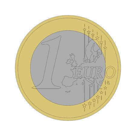 1 euro coin Vector