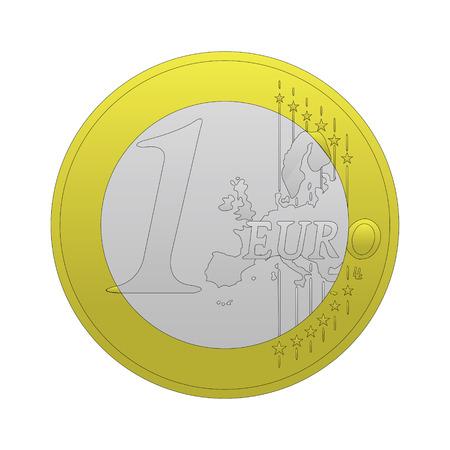 1 euro vector Vector