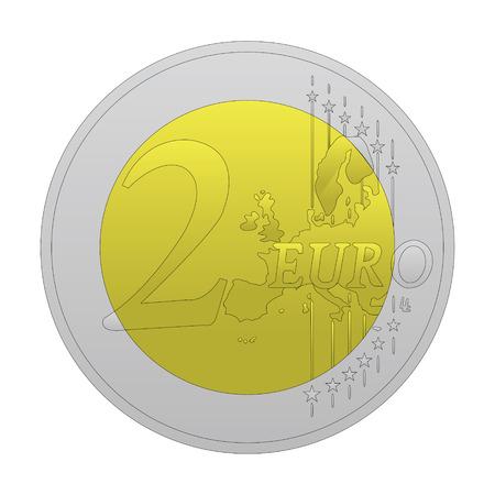 2 euro vector Vector