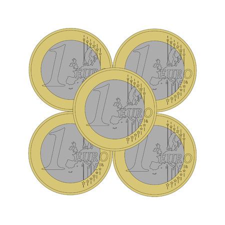 pig iron: Pyramid of 1 euro coins