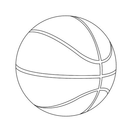 Silhouette of a basketball ball Stock Vector - 30816926