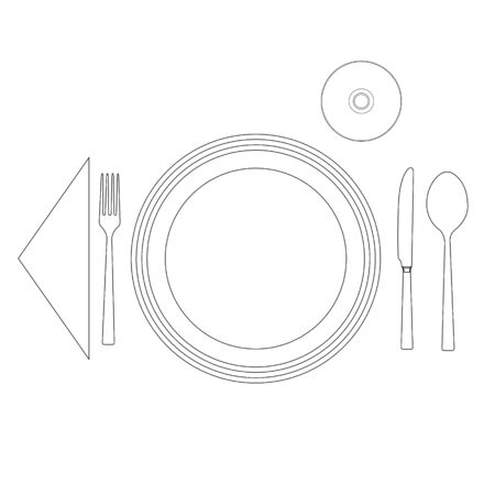 caterer: Silhouette of a cutlery