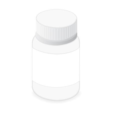 pastil: Pillbox vector Illustration